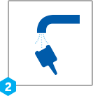 graphic of rinsing nozzle