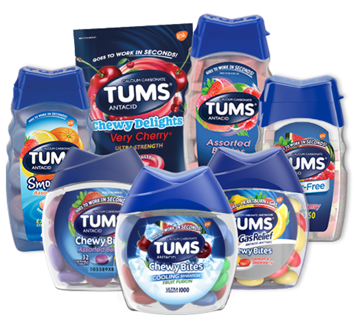 TUMS® Family with Chewy Bites® with Gas Relief and TUMS® Sugar Free