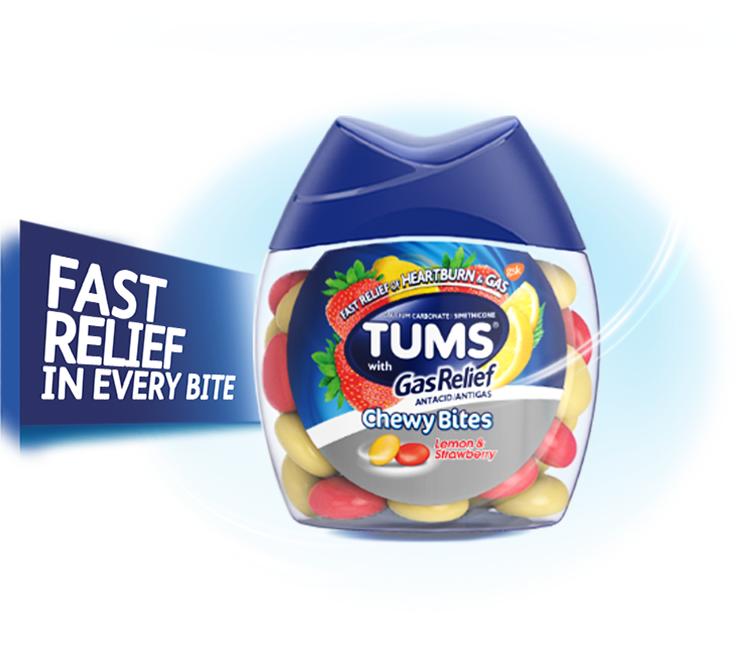 TUMS Chewy Bites® with Gas Relief