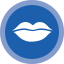 blue mouth icon