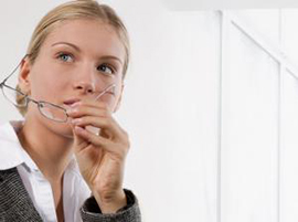 Healthy eyes and woman holding glasses thumbnail