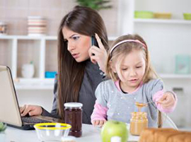 Busy women and child thumbnail