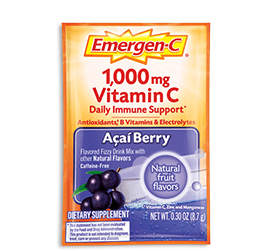 Packet of Emergen-C Everyday Immune Support in Acai Berry flavor