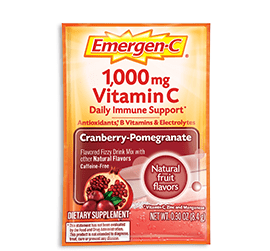 Packet of Emergen-C Everyday Immune Support in Cranberry Pomegranate flavor
