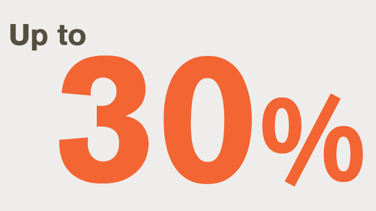 Up to 30% Infographic