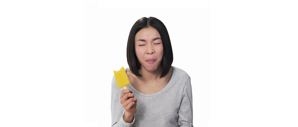 Painful ice-lolly bite