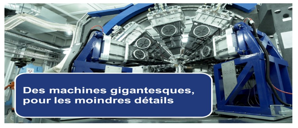 Gigantic machines, for the minutest details