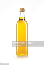 Cooking oil in a glass bottle