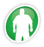 Icon of an overweight man