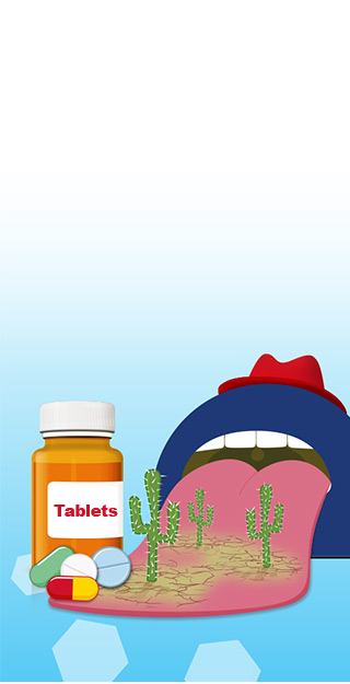 Medication on water background