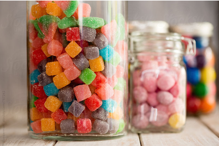 Sugary candy can weaken and stain your tooth enamel