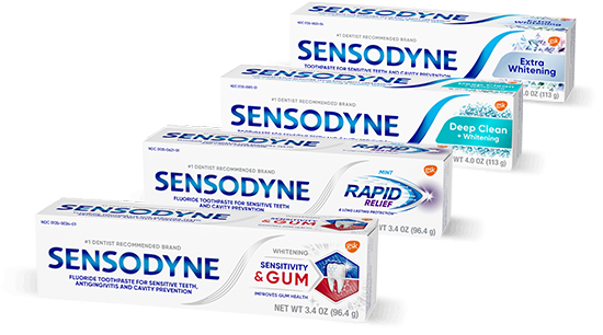 the difference between sensodyne toothpastes
