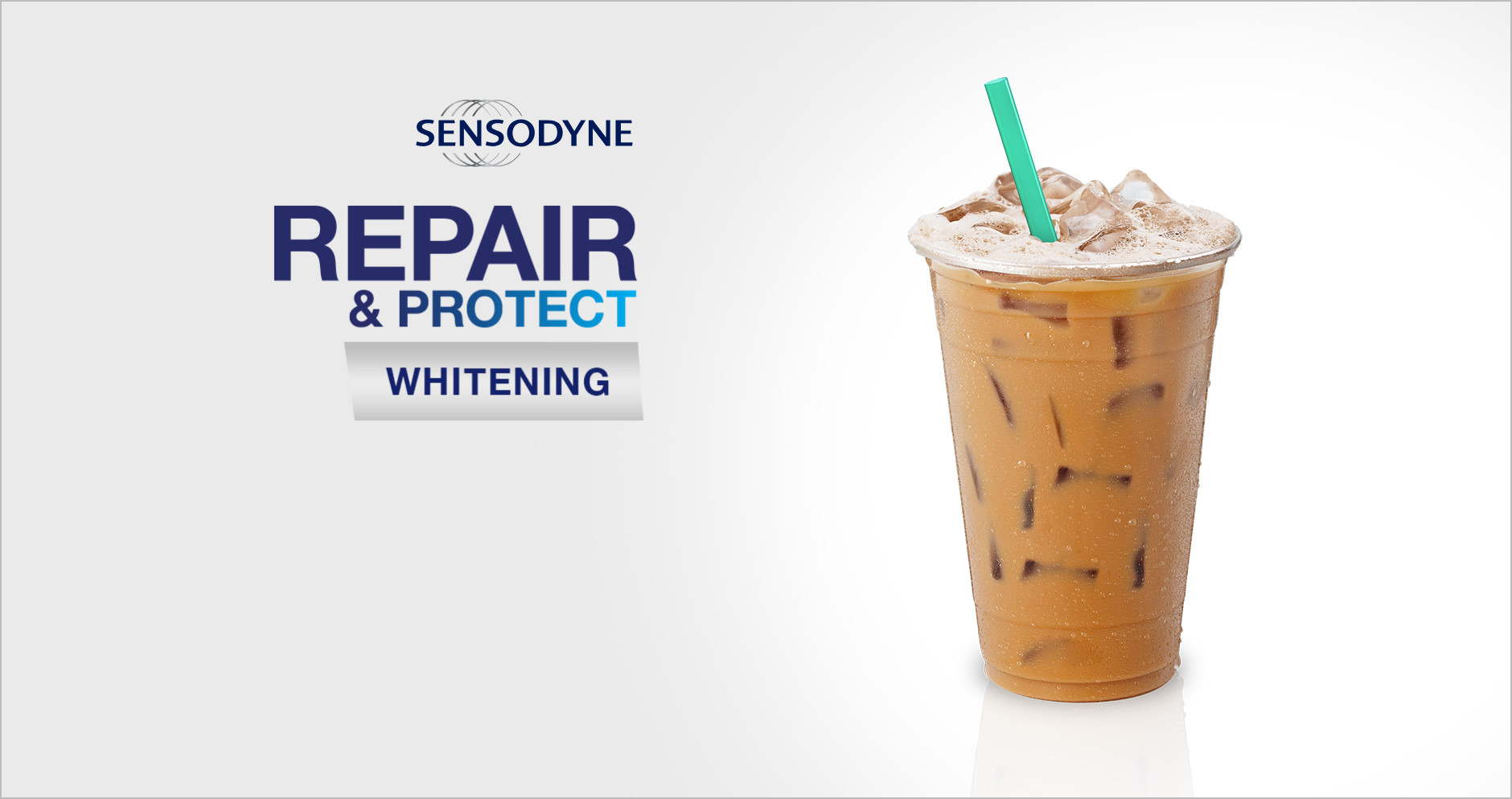 Repair and protect natural tooth whiteness with Sensodyne