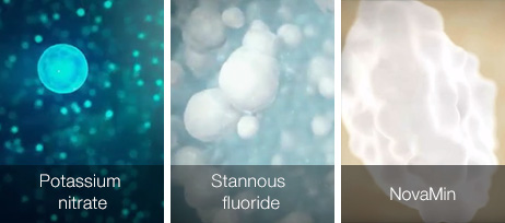 Illustration of Potassium Nitrate and Stannous Fluoride