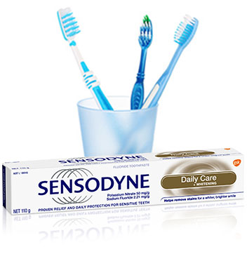 Sensodyne Fresh Mint Toothpaste and Toothbrushes